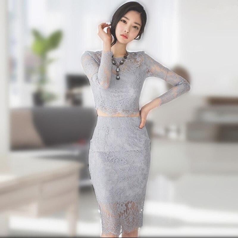 Sexy crochet ժանյակավոր զգեստով կանանց - Կանացի հագուստ - Լուսանկար 3