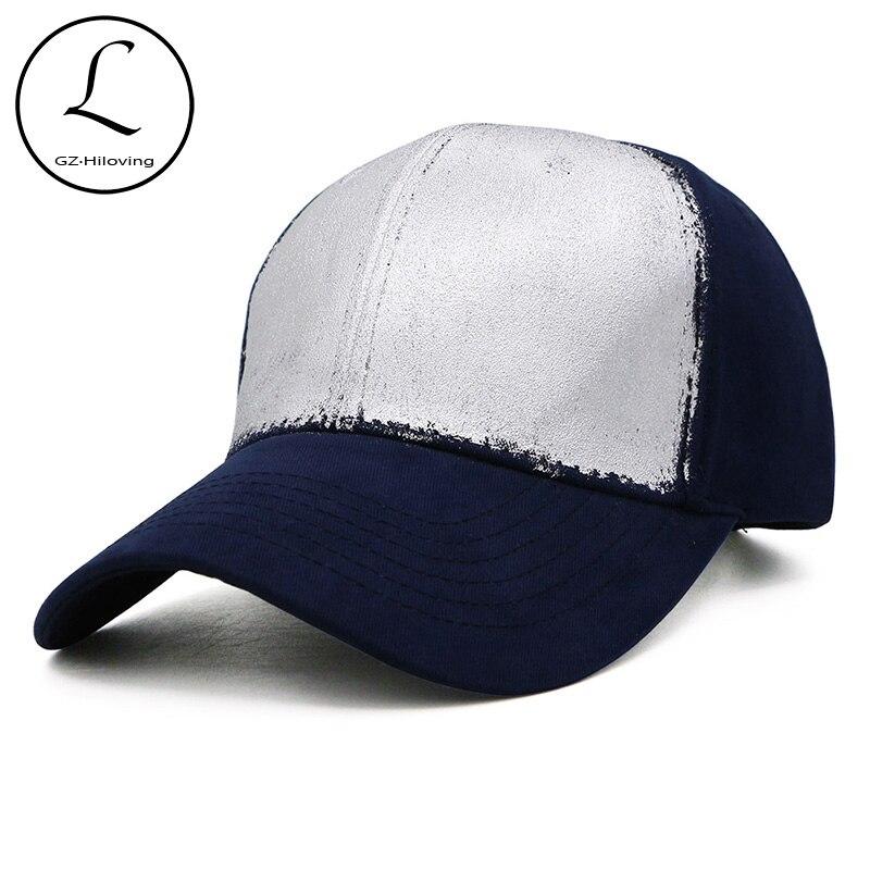 Бренд GZHILOVINGL качественная хлопковая бейсбольная кепка в стиле хип-хоп серебристого и золотого цвета с металлическим покрытием для женщин и ...
