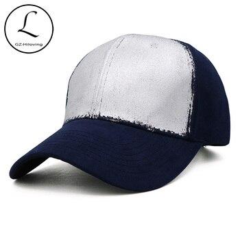Marca GZHILOVINGL, gorra de béisbol de algodón de calidad Hip Hop plateada y dorada, gorra de béisbol para mujer y hombre, gorra de béisbol de otoño e invierno