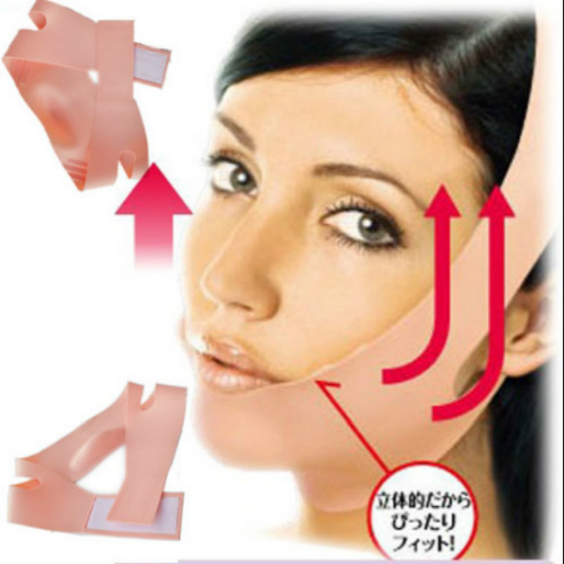 Silicone V Face Slimmer Belt Facial Slimming Bandage Shaping Contour Shaper Cheek Lift Up Anti Wrinkle Sagging Massager Tool