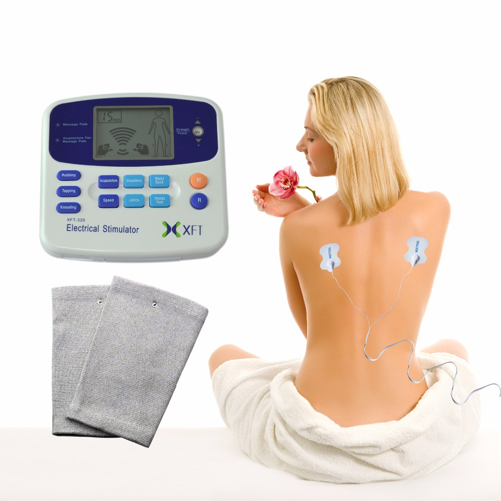 XFT-320A Electrical Stimulator TENS Healthcare Physiotherapy Pains Relax Smoothing Electrical Massager+Physiotherapy Knee Pads xft 320a electrical stimulator tens healthcare physiotherapy pains relax smoothing electrical massager physiotherapy knee pads