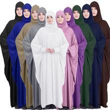 Le Donne Musulmane Della Copertura Completa di Preghiera Indumento Hijab Lungo Maxi Vestito Abaya Caftano Robe in Testa Arabo Medio Oriente Maxi Abito Islam scherza La Camicia di Clotes