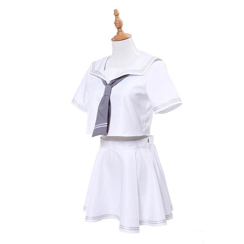 08af3bd27 ROLECOS Novo Jogo Japonês Destino Grande Ordem Jalter Cosplay Jeanne d Arc  Vingador e Régua Preto Branco Uniforme Da Menina Da Escola em de no ...
