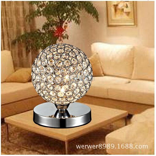 Hot Sale Luxurious Modern Fashion Adjustable Crystal Ball Led E14 Table Lamp  Living Room Bed Room Part 76