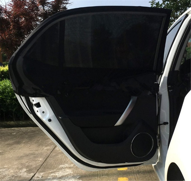 Universal Car Rear Side Window Sun Shade SUV Auto Fit Baby Breathable Mesh  Car Window Sunshade M L XL 96e26df1858