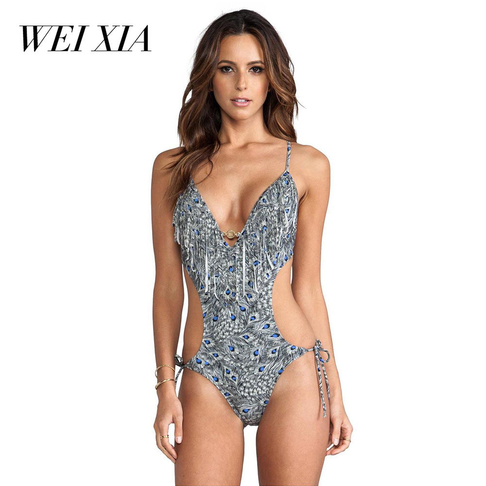 WEIXIA 2018 New arrival  Hot Sell Sexy Women 17161 One Piece Swimsuit Lovely Girl Super Sexy Bathing Suits Swimsuit Push Up Swim джинсы темно синие catimini ут 00009366