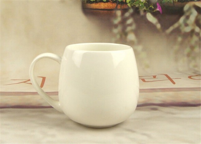 White Porcelain Mugs and Cups,Plain White Ceramic Drinking Coffee Mugs Water Tea Cup Drinkware