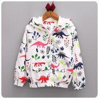 2016 Korean Children's Garment Autumn New Pattern Male Baby Cartoon Dinosaur Loose Coat Jacket Children Defence Windbreaker