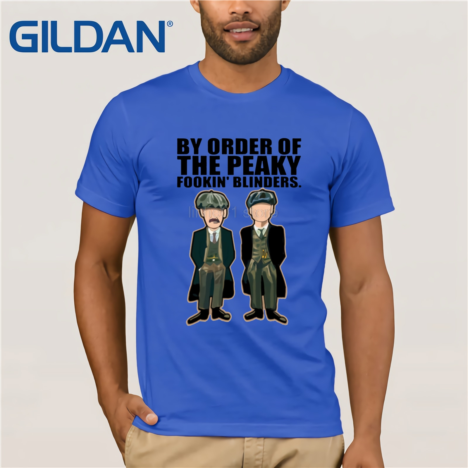 GILDAN Peaky blinders T Shirt Short Sleeved Cotton Tops Guys Heavy Metal TV Show T Shirts Printed Tops camisetas hombre in T Shirts from Men 39 s Clothing