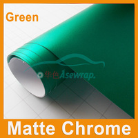 Luxury Blue Matte Chrome Vinyl Wrap Car Wrapping Film For Vehicle styling With Air Rlease matt chrome cast Foil 1.52x20m/Roll