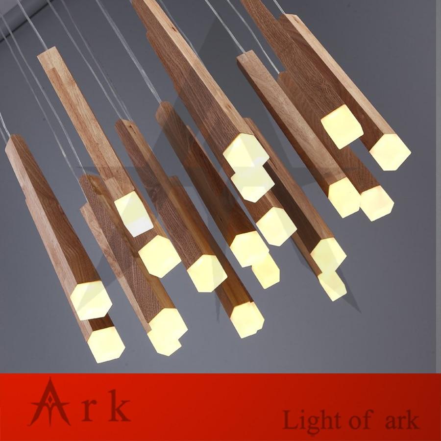 40CM Contracted modern Multilayer ball wood Restoring ancient ways socket pendant lamp lights A globe Hanging chandelier