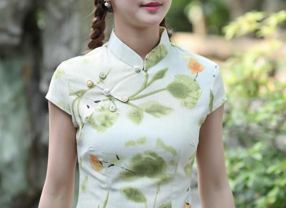 Nueva llegada verano estilo chino algodón Lino mujeres Tang Suit Tops tradicional blusa elegante camisa delgada M L XL XXL XXXL 2518-6
