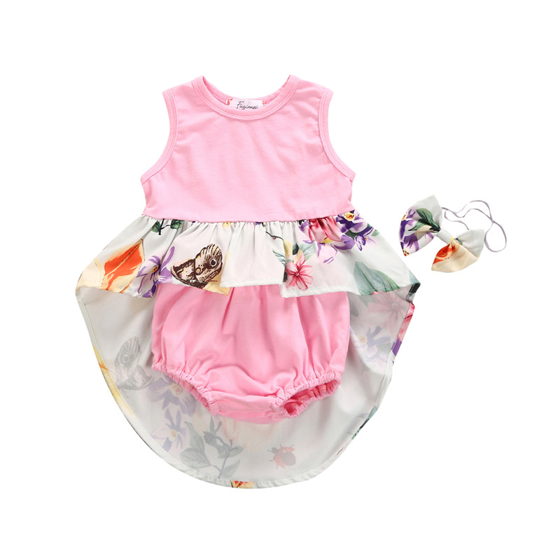 Summer Baby Girl Clothes Set 2018 Newborn Baby Girls Tops Butterfly Floral Printed Mini Dress+Pink Shorts 3pcs Outfits Girls Set