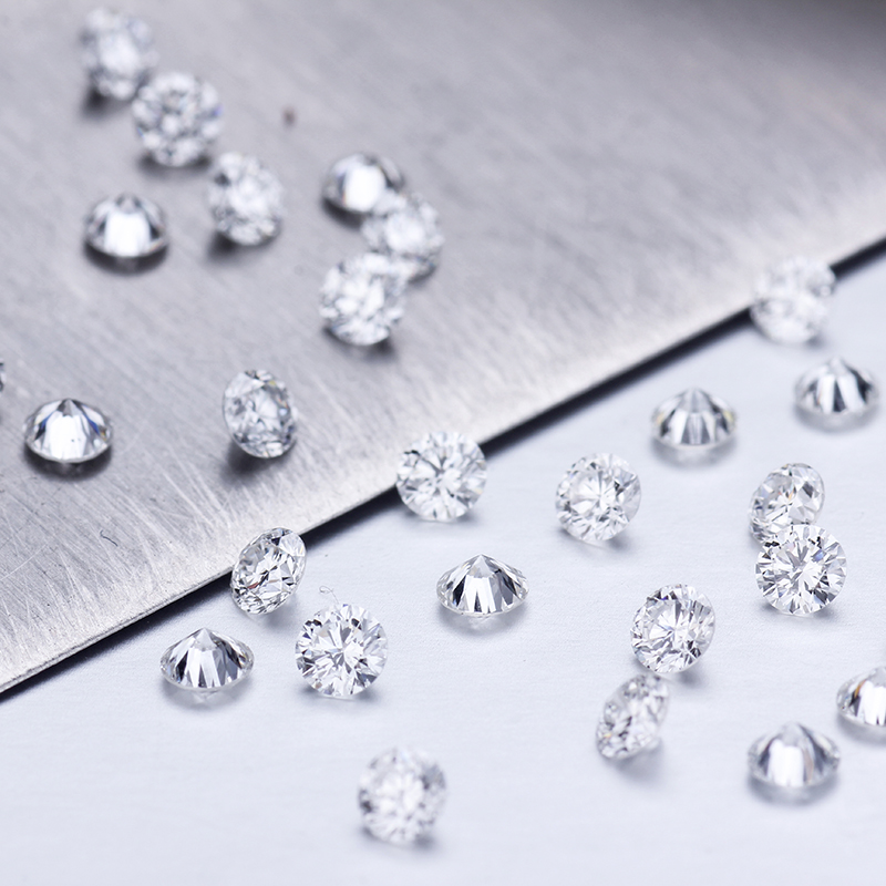 1ct/pack Lab Grown Diamond 1.0mm D Color VVS Clarity Small Size Loose HPHT Lab Diamond For Jewelry Making
