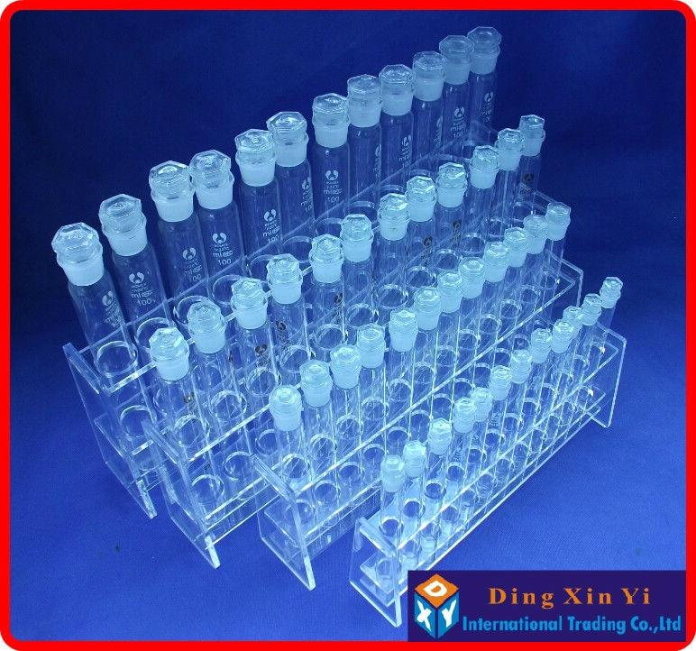 rack + 12 peças 100ml vidro colorimétrico tubo