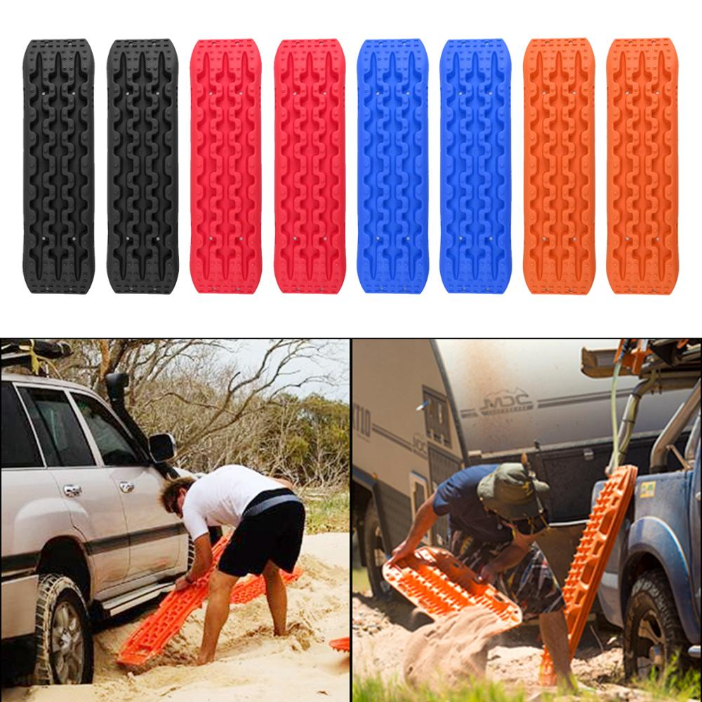 Areyourshop 2 PCS New 10T Pair Tracks Recovery Traction Snow Track Tire Ladder 4WD Off Road Recovery Tracks Car Accessories image