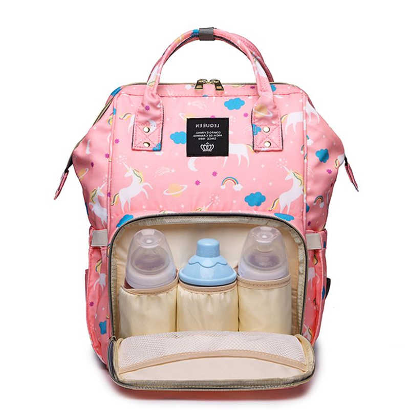 ... Brand Women mochila Backpack Unicorn Print Bags For Ladies 2019 Large  Oxford Waterproof Mom Travel Backbag 34c6a186c42cc