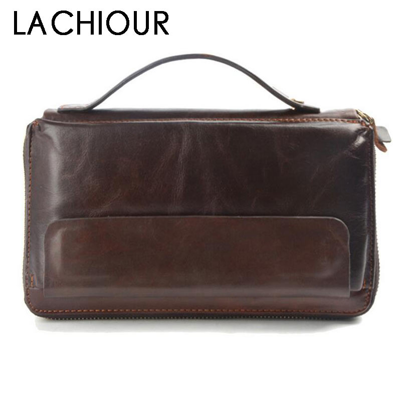 Famous Brand Men Clucth Wallets Male Long Genuine Leather Purse Men's Clutch Wallets Carteiras Mujer Clutch Man Handy Bags 2016 famous brand new men business brown black clutch wallets bags male real leather high capacity long wallet purses handy bags