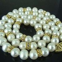 Heißer verkauf charming 8-9mm weiß natürlichen süßwasser-zuchtperlen perlen halskette für frauen braut elegante schmuck gifs 18 zoll BV232