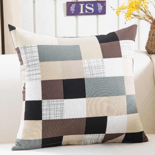 Colorido padrão de Geometria capa de Almofada Geométrica Impresso fronhas Lençóis de algodão capas de Almofadas Sofá 45x45 cm capa de almofada