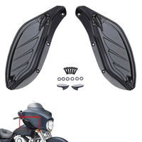 Adjustable Fairing Wind Air Deflector Black ABS Pastic ForCVO Street Glide FLHXSE 2010 For Street Glide EFI FLHXI 2006