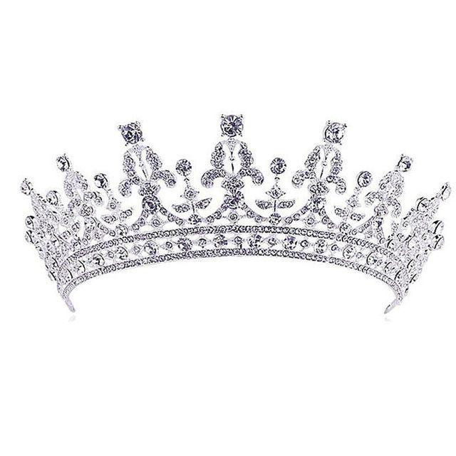 Luxury Wedding Bridal Crystal Tiara Crowns Princess Queen Pageant Prom Rhineston