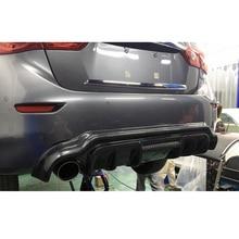 For Infiniti Q50 Q50L Spoiler 2014 2015 2016 2017 Q50 Car Decoration Black Carbon Fiber Rear Trunk Wing Spoiler Diffuser стоимость