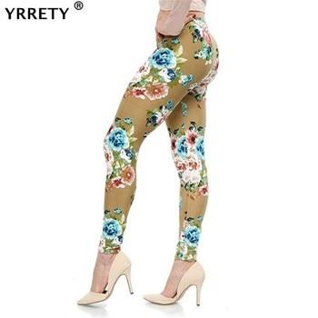 YRRETY Women Leggings High Street Cotton Leggin Casual Floral Printed Legging Graffiti Soft Fashion Trousers Hot