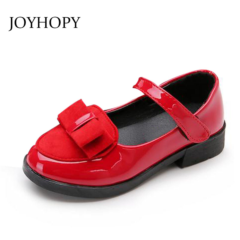 EUR27-37 new 2015 children Kids Shoes for Girls Leather bowknot Baby Girl Shoes spring autumn
