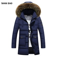Mens Parka 2017 New Clothing Jackets Business Medium Long Thick Winter Coat Men Patch Designs Parka Fashion Overcoat Outerwear