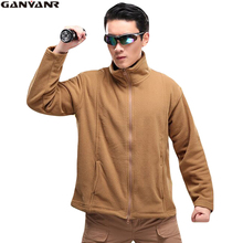 GANYANR Brand Softshell Jacket Men Hunting Outdoor Hiking Windstopper Polar Winter Clothing Fleece Camping Tactical Military new winter 3in1 outdoor jacket men skiing trekking coat windstopper waterproof hiking camping jaqueta masculino fleece liner