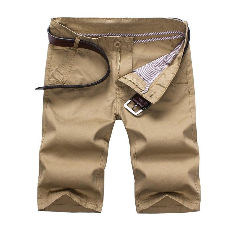2017 Summer mens casual shorts. Stylish and comfortable Mans cotton khaki shorts ,Thin Summer breathable ArmyGreen shorts