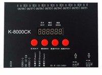 K 8000CK (Verbesserte version von T 8000)  sd karte led pixel steuerung; off line; SPI signal ausgang: 1024pixes * 8 ports = 8192 pixel-in RGB-Controller aus Licht & Beleuchtung bei