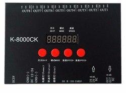 K-8000CK (Verbesserte version von T-8000), sd-karte led-pixel-steuerung; off-line; SPI signal ausgang: 1024pixes * 8 ports = 8192 pixel