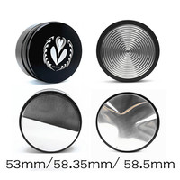 Powder coffee tampers convex ripple three angled slope hammer bean pressed 58.5mm height can be adjusted
