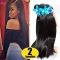 Grade 7A Unprocessed Virgin Hair 2 Bundles Peruvian Virgin Hair Straight 2 Bundle Deals Human Hair Extensions Rosa Hair Store