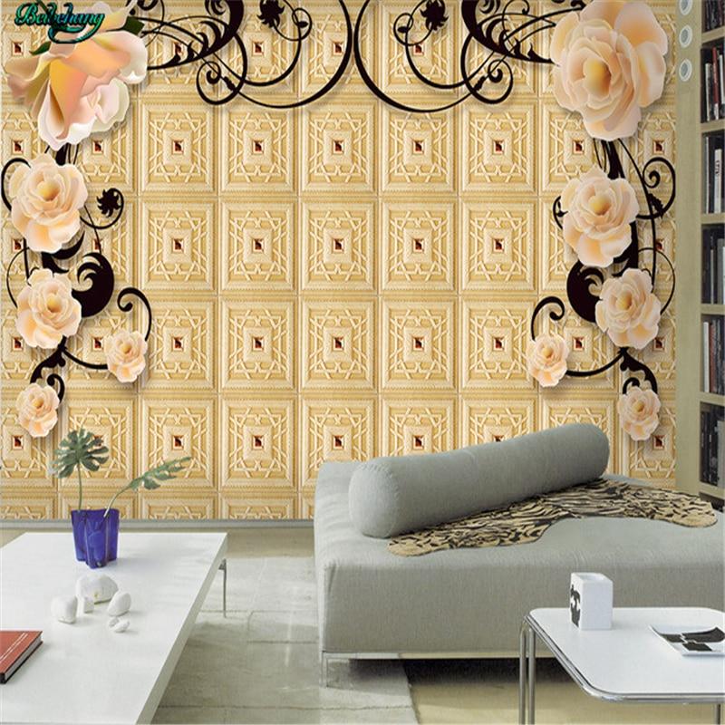 beibehang Large custom wallpapers high end European style simple ...