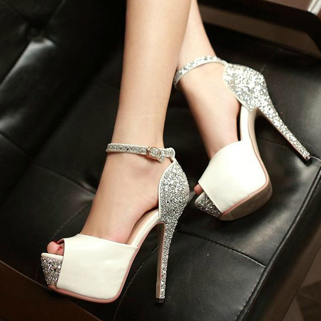 Aliexpress.com : Buy Beautiful Stiletto Pumps Peep Toe Wedding ...