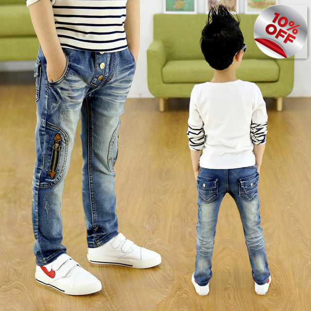 A New Year, children zipper jeans, boys pants fit for spring baby boys jeans children trousers 3 4 5 6 7 8 9 10 11 12 13 14