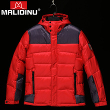 MALIDINU 2019 Men Down Jacket Winter Coat Mens Parka Patchwork Sports Coats Outwear Free Shipping