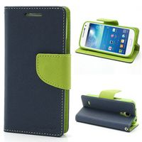 1pcs Lot Korean Original Mercury Double Color Leather Flip Case Cover For Samsung Galaxy S4 Mini