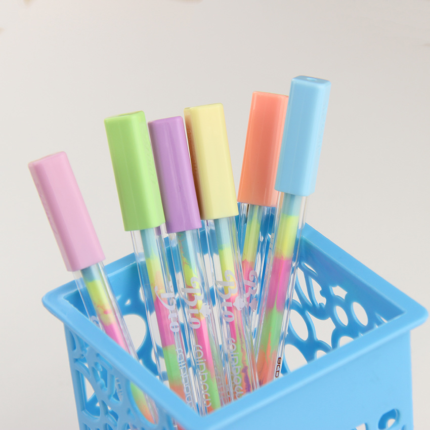 4PCS/Lot New Kawaii Water Chalk Paint Pen 6 Different Color Gel Pen For Kid Gift Novelty Products Stationery