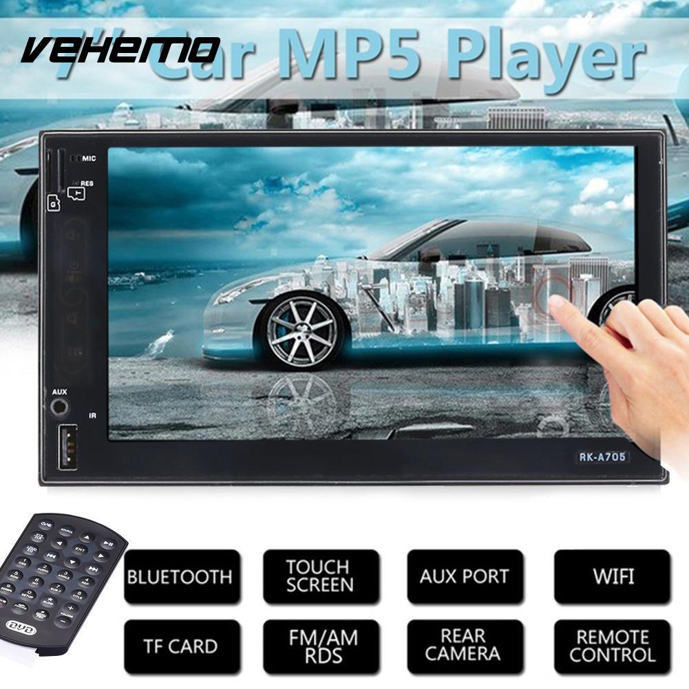 Vehemo 2 Din 7012B lecteur de voiture MP5 7 pouces écran tactile Auto voiture MP5 lecteur vidéo Radio télécommande avec caméra de vue arrière