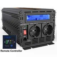 Inversor UPS onda sinusoidal pura 2500W cc 12v a CA 220v pantalla LCD inversor + cargador y UPS, fuente de alimentación de carga rápida y silenciosa