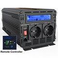 UPS inversor de onda sinusoidal pura 2500 W DC 12 v a AC 220 v pantalla LCD inversor + cargador y UPS carga silenciosa y rápida de la fuente de alimentación