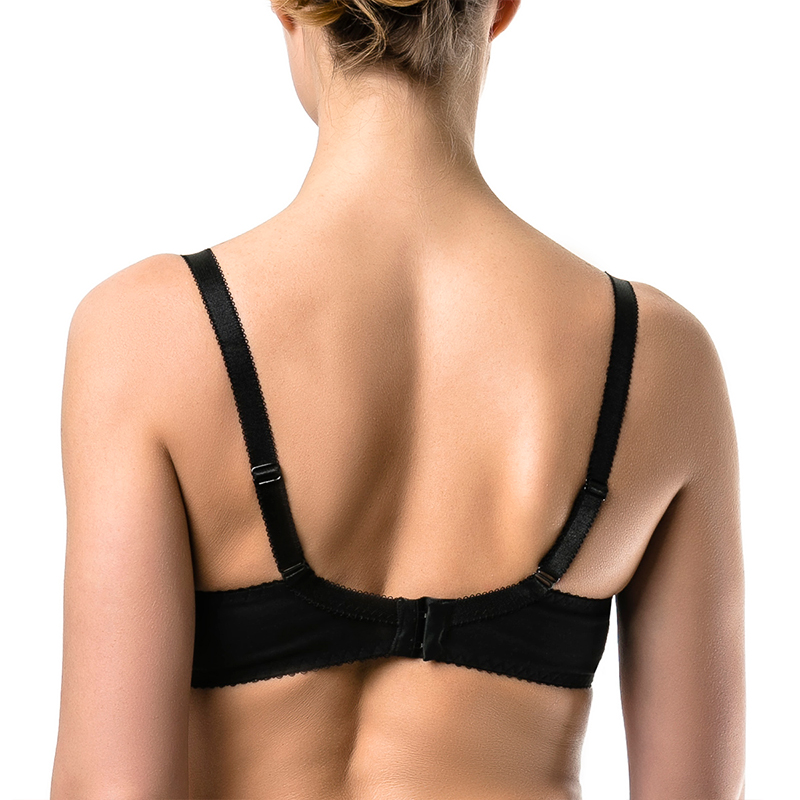 ARDI Womans Wireless Comfort Bra with Soft Cup Wire Free for Big Breast Full Figure Large Size Plus Cotton Black R2714-19
