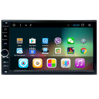 HD Car Headunit Android 7.1 Stereos Wifi Camera USB/SD Double Din Car Stereo Player Dash GPS Sat Nav Mirror Link WIFI
