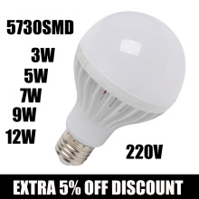 Wholesale LED lamp E27 led Bulb light 3W 5W 7W 9W 12W 220V Chandelier LEDs Candle light Spotlight Lampada Bombillas
