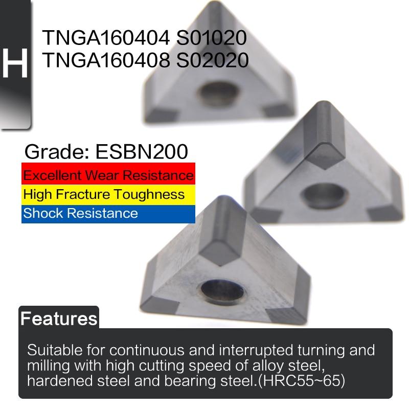 EDGEV 2 pezzi inserto in nitruro di boro nitruro di CBN TNGA160404 - Macchine utensili e accessori - Fotografia 2
