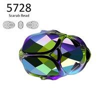 (1 piece) 100% Original crystals from Swarovski 5728 Scarab Bead 12mm made in Austria loose rhinestones for DIY jewelry making